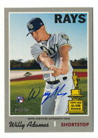 WILLY ADAMES RC 2019 TOPPS HERITAGE HIGH NUMBER ROOKIE AUTO TAMPA BAY RAYS