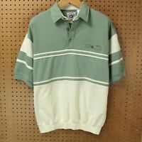 vtg 80s 90s LD SPORT polo shirt LARGE tennis golf ugly color block aesthetic