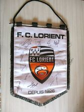 FC LORIENT fanion pennant XL dedicacé equipe saison 2013-2014 no maillot foot