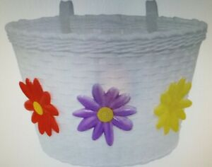 LARGE SIZE BICYCLE BASKET WITH FLOWERS 11X8X7.25