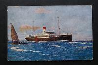 Marine Schiff AK Dampfer MADEIRA 1920er Hamburg Südamerika Dampfschiff Gesellsch