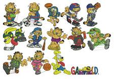 Garfield Sport: 14 embroidery designs (PES, HUS, JEF)