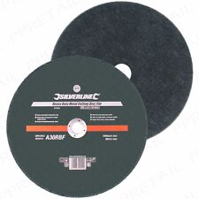 """2 x EXTRA LARGE FLAT METAL CUTTING DISC 355mm/14"""" Heavy Duty Angle Grinding Tool"""