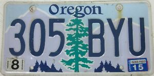 OREGON licence/number plate US/United States/USA/American 305 BYU