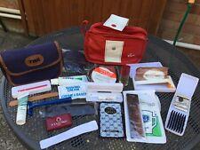 Job Lot Of Inflight Airline Wash Bags Accessories TWA , VIRGIN ATLANTIC , B CAL