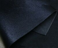 Genuine Nature Cow Leather Tanning Cowhide DIY Craft Leathercraft Pieces Black