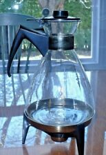 Vintage Pyrex 8 cup Coffee Tea Carafe Pot Server W Candle Warming Stand