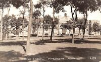 Pipestone Minnesota~High School Through Trees~1946 Real Photo Postcard~RPPC