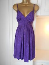 Topshop size uk 12 nwt of £45 purple fit and flare party dress bust 36""