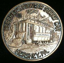 New Listing1970 Hershey Pa Pioneer Street Car Medal Early Conductor Coin Club Token Trolley