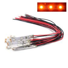 DD01C 10pcs Pre Wired ORANGE Strip Led Light Self-adhesive Flexible 12V ~18V NEW