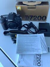 Nikon D7200 24.2 MP Digital SLR Camera - Black (Body Only) SHUTTER COUNT 11314
