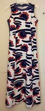 New listing Vtg 70's Maxi Tanner of North Carolina Dress Mod Art Red/White/Blue Med.