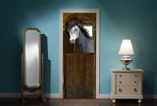 Door Mural Horse Horses Stable View Wall Stickers Decal Wallpaper 44C
