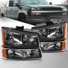Headlights For 03 07 Chevy Silverado 02 06 Avalanche Amber Side Bumper Lamps Fits More Than One Vehicle