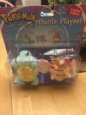 Pokemon Squirtle vs Spearow (1999) Applause Plush Toy Battle Playset