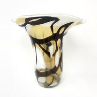 "Beautiful Krosno Jozefina Poland Hand Blown Art Glass Vase 13"""