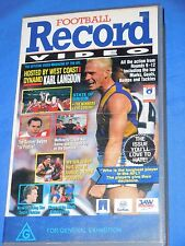 1993 Football Record Video AFL Footy VHS 60 Min Issue 4 Volume 1 Rounds 9 - 12