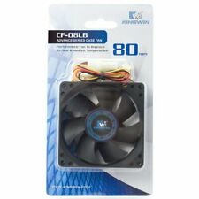 "(6) NEW ""BLACK"" 80MM KINGWIN CF-08LB COMPUTER CASE FANS FAST FREE SHIPPING"