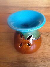 OLIO in ceramica bruciatore Teal E Marrone.. CERA CROSTATE scaldati granuli 3,5 pollici