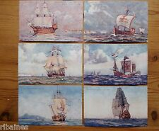 R&L Postcard: White Star Lines British Bulwarks 1-6, HMS Juno/Santa Maria etc