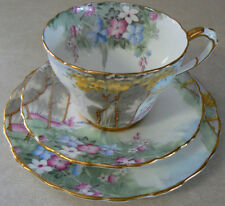 Paragon by Appointment Woodland Bluebell tea trio Cup Saucer dessert plate G3748