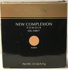 Revlon New Complexion Powder Oil Free .35 oz / 9.9 g Toast rare, Nib