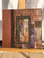 Collage sur bois signé Catherine BAUDY - Nocturne