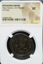Maurice Tiberius, Ad 582-602, Follis. Byzantine Empire.Ngc Vf