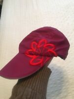 HEADSWEATS Pink Magenta Floral Performance Race/Running/Outdoor Sports Hat
