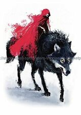 "US SELLER, ghost spirit wolf 8.25"" large arm temporary tattoo thigh leg ankle"