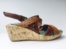 Mia Girl Size 12 (Kids) Wedge Sandals In Brown