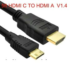 Mini HDMI C TO HDMI A Cable For Sylvania Tablet SYTABBL7 SYTAB10MT SYTAB10ST