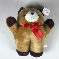 "Teddy Tech Cough Buddy VTG Large 16"" Stuffed Bear Surgery Plush Heart Ribbon Toy"