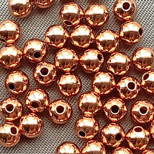 Solid Copper Smooth Round Ball 4mm Beads Q120 per Pkg