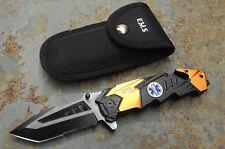 Albainox GUARD EMS Messer Rettungsmesser Gurtschneider Glasbrecher + Etui 18122A