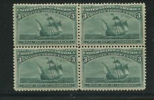 1893 US Stamp #232 3c Mint Never Hinged F/VF Block of 4 Catalogue Value $520