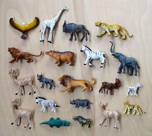 LOT 20 pcs Assorted Small Plastic Toys  Zoo Wild Animals