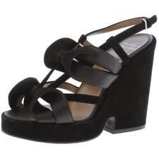 Laurence Dacade Womens Segolene Suede Slingback Platform Sandals Heels MSRP $860