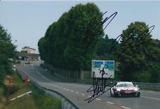 Dumas, Bernhard, Muller Hand Signed Porsche 12x8 Photo 2018 Le Mans 3.