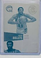 1/1 ELVIN HAYES 2010 PANINI CYAN PRINTING PLATE CARD #6 WASHINGTON BULLETS HOF
