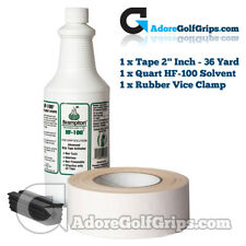 Premium Re-Grip Kit - 125 Golf Clubs - HF-100 Solvent - Tape & Shaft Protector
