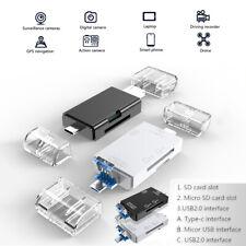 512GB TF SD Card Reader Portable USB 2.0 Type C Dual Slot Memory Card Adapter