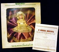 "NORMA ORIGINALS in Box MARTHA WASHINGTON 8"" Doll with Educational Story 1950's"
