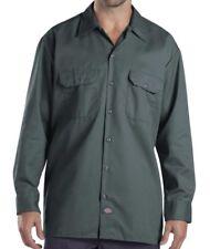 Dickies 574 Long Sleeve Work Shirt Large Olive Green