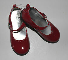 NEW Toddler Girls KOALA KIDS Red Man Made Patent Leather Dress Shoes Size 8