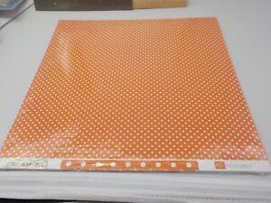 ECHO PARK DOTS & STRIPES PUMPKIN POLKA DOTS CARDSTOCK 25 SHEETS 12X12 A10141