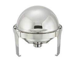 Winco 602, 6-Quart Madison Round Chafer With Stainless Frame and Roll Top