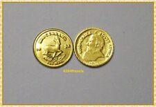 mini Pièce type Arras OR 22K HGE Krugerrand 1978 Fine Brass mini GOLD CLAD Coin