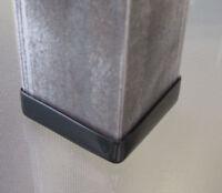 "4PK - 1 1/2"" Angle Iron Vinyl End Caps 90 Degree Corner Furniture Feet 1.5"" Foot"